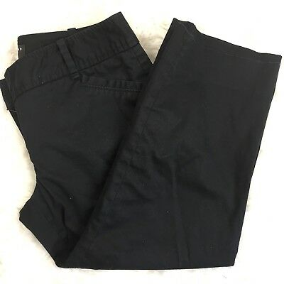 """The Limited Women's """"The Drew Fit"""" Black Cropped Capri Pants Culottes Size 6"""