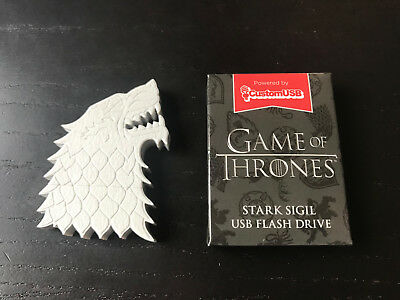 Game of Thrones House Stark Sigil Dire Wolf USB Flash Drive HBO Lootcrate 4GB