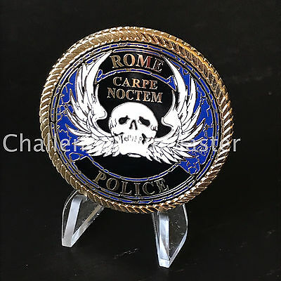 A2 Rome Police Department New York Challenge Coin