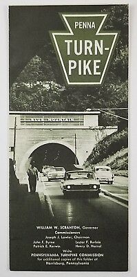 Vintage Travel Brochure Pennsylvania Turnpike with Map Circa 1960s Highway