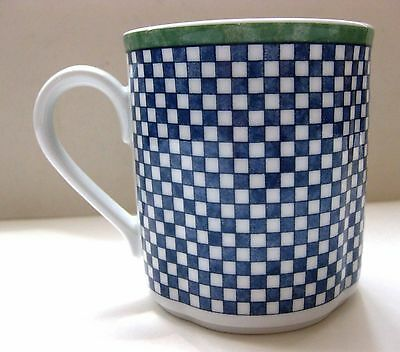 "Euc Villeroy & Boch ""Switch 3-Castell"" (Checkerboard) Mug 8 Oz. 3 3/8"""