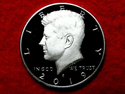 *Ship Today* 2019 S Kennedy Frosty Proof Deep Cameo Clad Half Dollar Item #15R