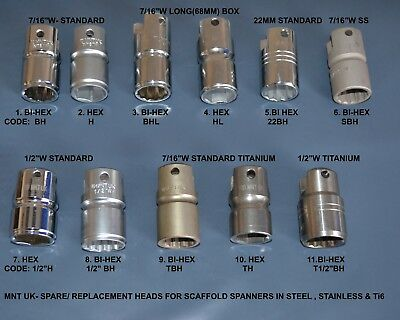 Scaffold Spares- Stainless Steel Head/(Box)