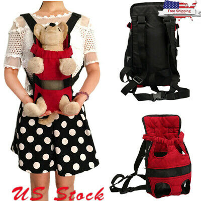 Portable Pet Cat Dog Travel Carrier Front Pack Puppy Bag Backpack Head Legs Out