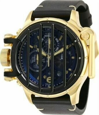 28142 Invicta Men's Vintage Chrono Black Leather Strap Dive Watch