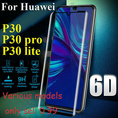For Huawei P30 Pro/Lite 9D/5D Curved Tempered Glass Screen Protector Guard UK LJ