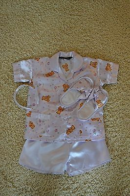 Girls PJ's Set with Slippers and Headband by Sweet Angel - Age 5 Approx