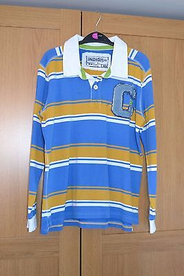 Boys Marks and Spencer Indigo collection Striped Long Sleeve Top Age 11-12