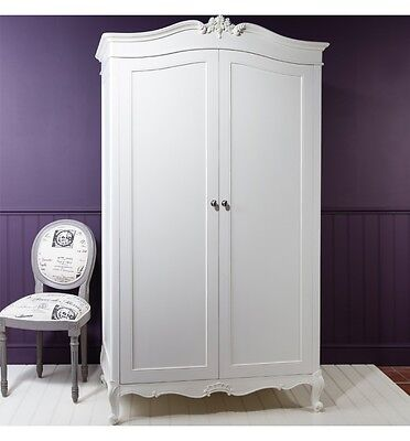 Frank Hudson Gallery Direct Painted Chic Chalk White French Style Wardrobe