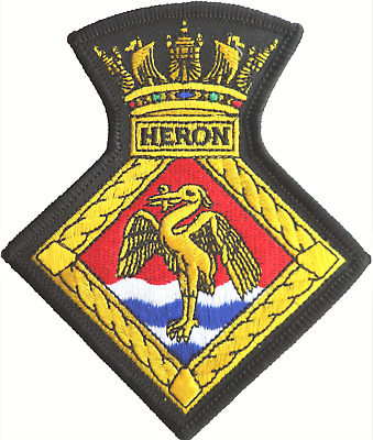 HMS Heron RNAS Yeovilton Fleet Air Arm FAA Crest MOD Embroidered Patch