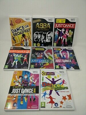 Wii Dance Game Bundle - Just Dance ABBA Juniors Broadway