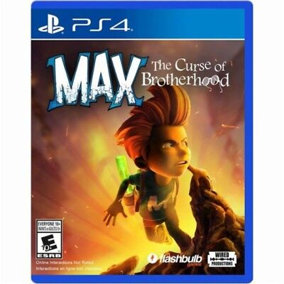 PS4 MAX The Curse of Brotherhood NEW Sealed REGION FREE USA Game plays all PS4s