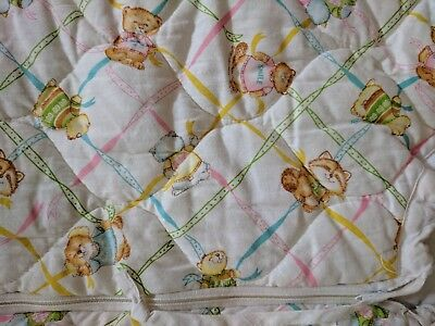 Vintage Dundee Baby Bunting Crib Quilt Blanket Shirt Tales Animals