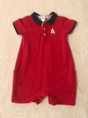 Janie And Jack Sailboat Romper - 12-18 Months