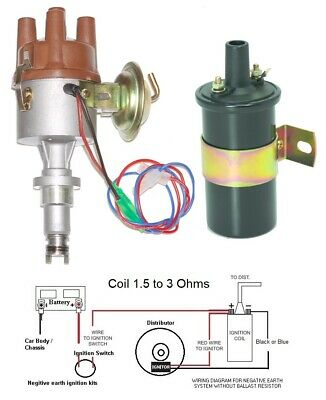 New Electronic Distributor & Coil to fit Renault 4,8,10,12  assembled in UK