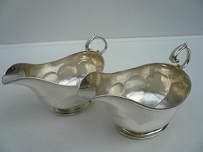 Silver Sauce Boats, Sterling, English, PAIR, Vintage, Birmingham 1918