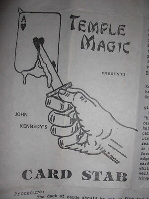 Temple Magic Presents John Kennedy's Card Stab
