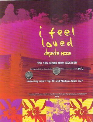 DEPECHE MODE Original Trade Magazine Ad Rare Collectable I FEEL LOVED Exciter