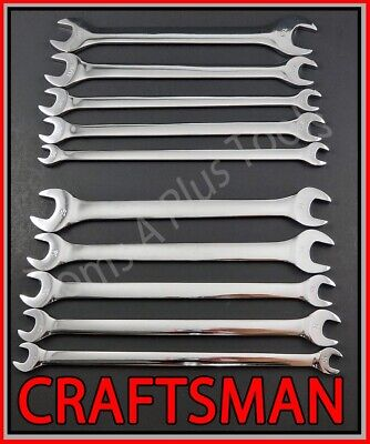 CRAFTSMAN 10pc FULL POLISH SAE METRIC MM Thin Head Tappet Open End Wrench set