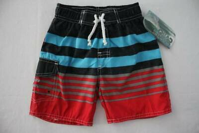 c1a283bc15 Toddler Boys Swim Trunks Bathing Suit Shorts Size 4T Lined Red Blue Summer  Pool