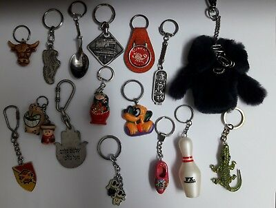 Vintage Retro Contemporary Key Chains Key Holder Lot of 16