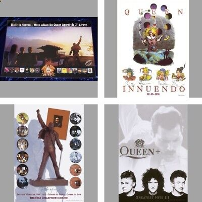 Queen Freddie Mercury Official promo release cd / lp poster set 4 pc  sealed