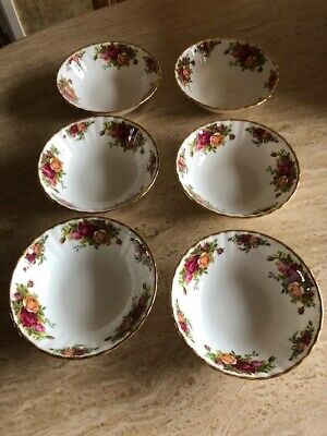 Royal Albert Old Country Roses - Bone China 6 Dessert Dishes