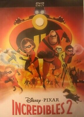 Incredibles 2 (DVD, 2018) New With Sleeve. Sealed.