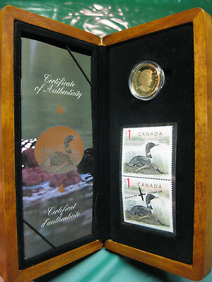 2004 Canada Elusive Loon $1 Bronze Proof Coin & Stamp Set
