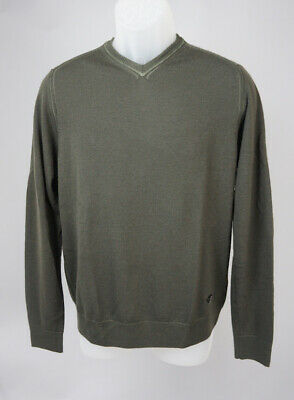 be25065b64e ARMANI JEANS OLIVE Green short sleeve tee Made in Italy Crew Neck ...