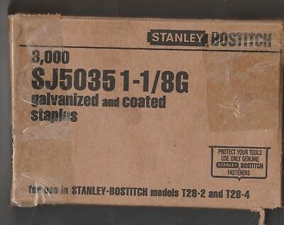 Stanley Bostitch Staples Sj50351-1/8G  Galvanized And Coated 3000