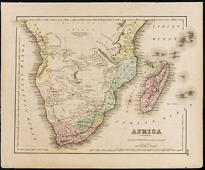 Carte De Lafrique Ancienne.Carte Ancienne 1857 De L Afrique Du Sud De Colton Antique Map Of Africa