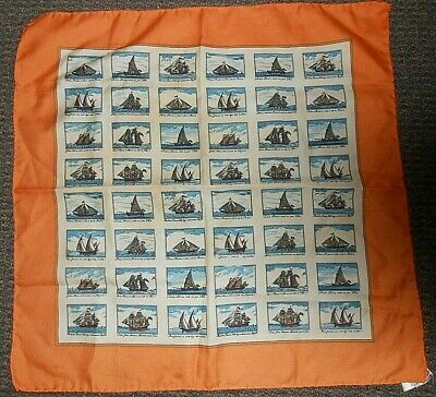 Vintage Nautical Sailing Vessels with Italian Captions Polyester Scarf Ships 22""