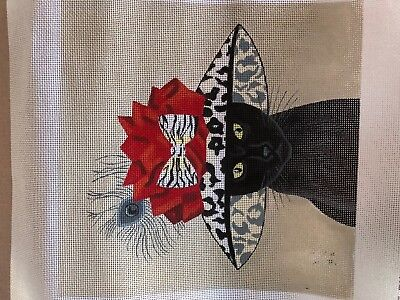 needlepoint canvas   VNG   Darling Cat in Hat