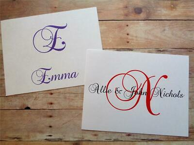 Initial Monogram Name Custom Personalized Note Cards Thank You Stationery* Gifts