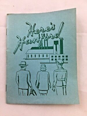 Here's Hanford 1944 Map Rare Nuclear Facility Guide WWII War Project (D7)