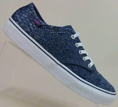 879f22efc2 Vans OTW Navy Snake Print Canvas Lace Up Sneakers Shoes Skate 721356 Women s  10
