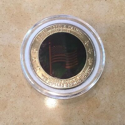 Riviera $10 Casino Token - 2002 - Hologram - Independence Day - UNC - FREE SHIP