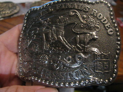 National Finals Rodeo Hesston  Belt Buckle  1985  SEALED    Box Red