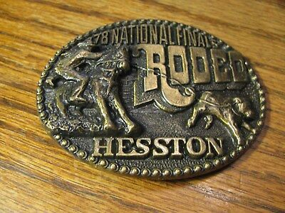 National Finals Rodeo Hesston  Belt Buckle  1978    Flat PM A