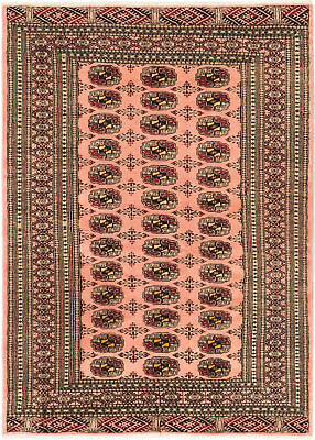 "Hand-knotted Russian Carpet 4'4"" x 6'0"" Shiravan Bokhara Traditional Wool Rug"