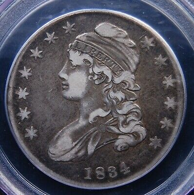 1834 Capped Bust Half Dollar Pcgs Very Fine 25 Small Date Small Letters Circ Cam