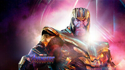 Movie  Avengers Endgame Thanos Wallpaper Poster 24 x 14 inches
