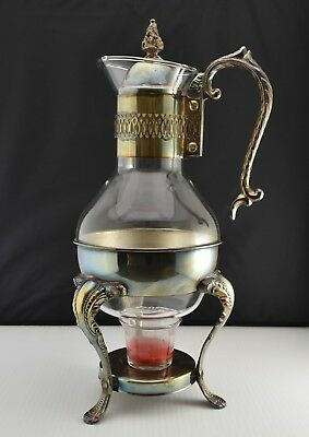 Vintage W S Blackinton Silver Plated Coffee/Tea Carafe Holder with Glass Carafe