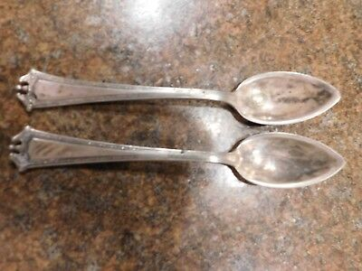 Flatware 1847 Rogers & Bros Triple Silver 1914 Continental Set of 2 Teaspoons