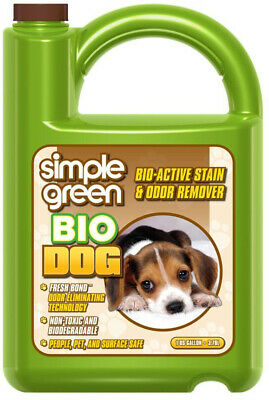 Pet Odor Remover Eliminator Simple Green 128 oz. Bio Dog Stain Enzyme Cleaner