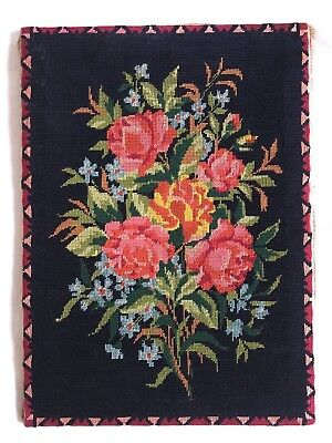 Floral  VINTAGE TAPESTRY Rose  NEEDLEPOINT Wall hanging Cushion Cover Picture