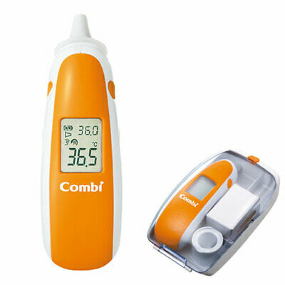 COMBI INFRARED EAR THERMOMETER WITH CASE w FREE 80 Thermometer Disposable Probe
