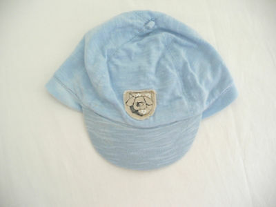 Baby boys pale blue cap w visor Size 00 - 0 fits 6 - 12 months 44 - 46 cm Cotton