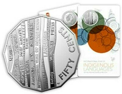 2019 50 Cent  INTERNATIONAL YEAR of INDIGENOUS LANGUAGES - FROSTED UNCIRCULATED